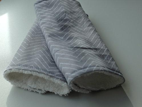 Organic Grey Chevron Strap Covers