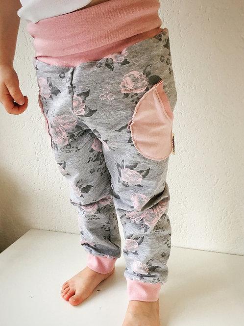 Dusty Pink Roses Pocket Lounge Pants