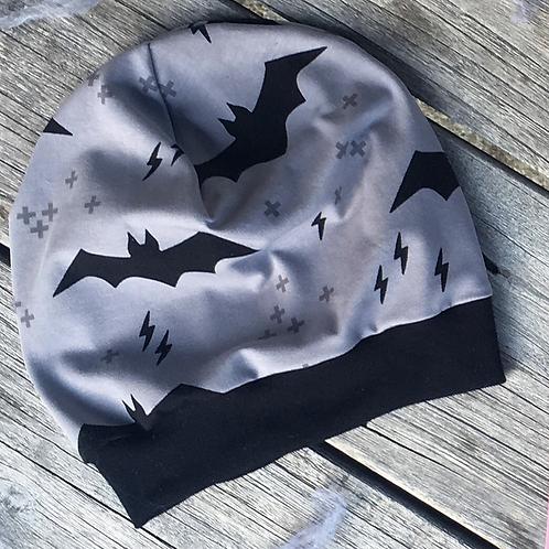 Retro Batman Slouchy Beanie Grey