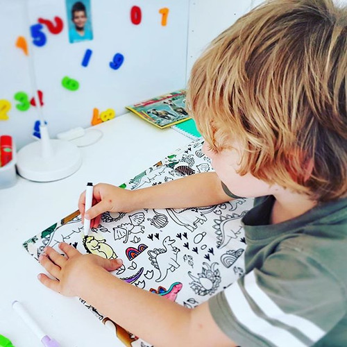 Quiet time at home with our colouring ma