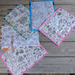 Wipe Clean Colouring Mats