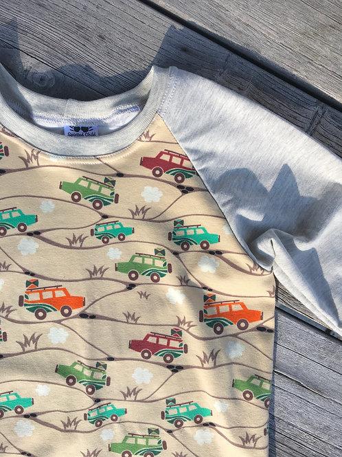 Safari Jeeps Raglan T-shirt