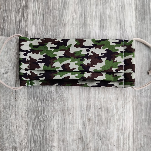 Green Camouflage Reusable Face Covering