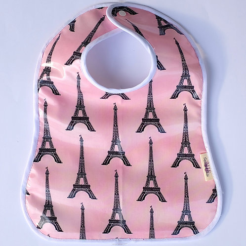 Pink Paris Waterproof Toddler Bib