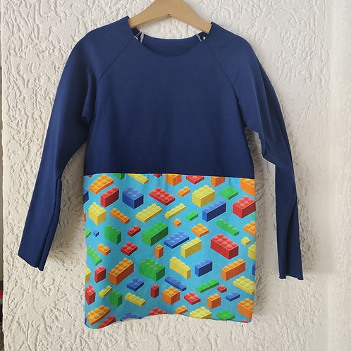 Block Blue/Lego Raglan T-shirt