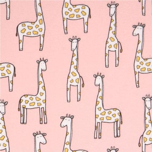 Giraffe Pink Plush Blanket