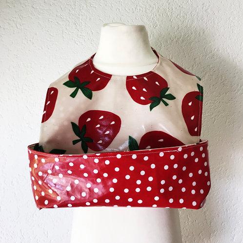 Reversible Strawberry Click & Catch bib