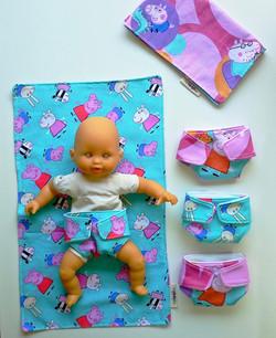 Peppa pig doll nappy set