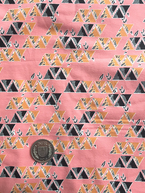 Mustard/Black Triangles Jersey 70 x 160
