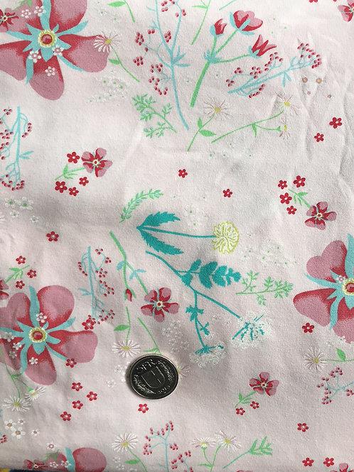 Pink & Teal Flower Jersey