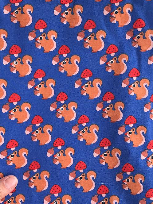 Blue Scandi Squirrel Bread Sack