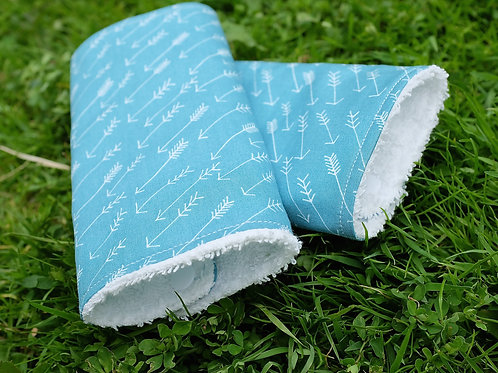 Arrows on Teal Strap Covers