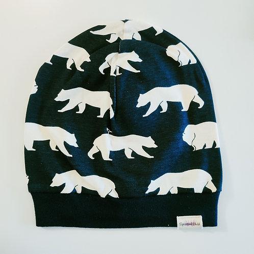 Bears Navy Slouchy Beanie