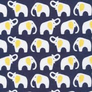 Organic Elephant Blue Minky Cuddle Blanket