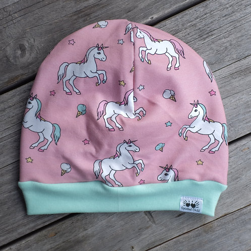 Pink Unicorn Slouchy Beanie