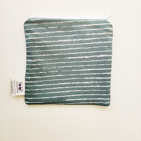Teal Stripes Snack Pouch