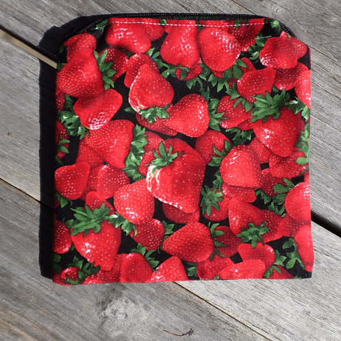 Strawberry Zipper Snack Pouch
