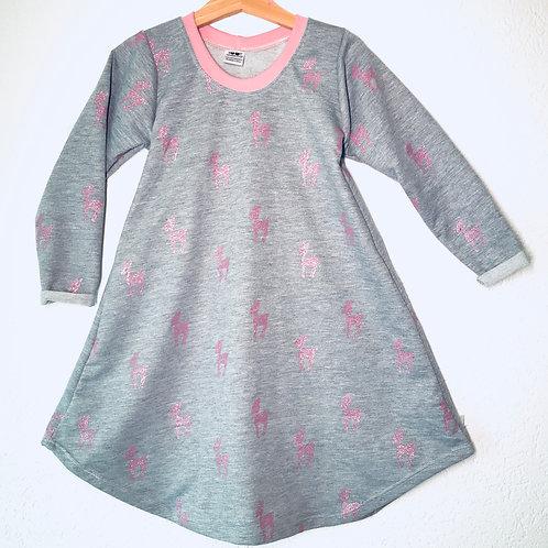 Metallic Deer - Pink Dress