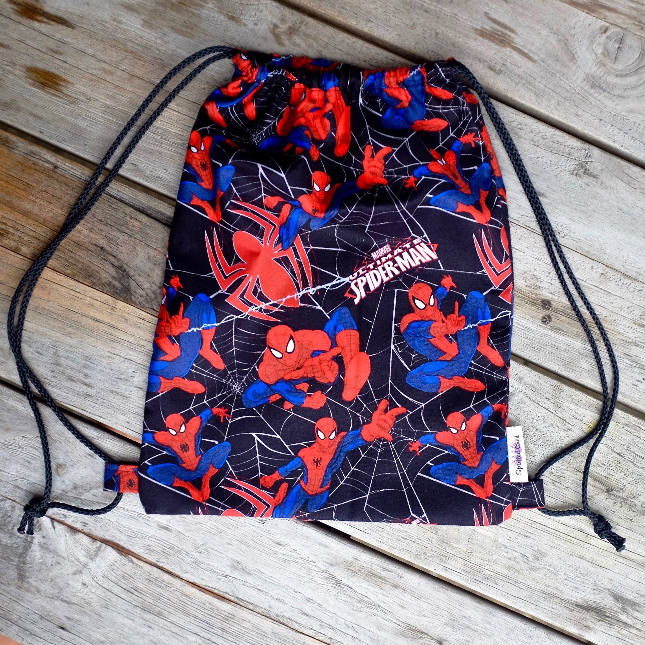 spider man gym bag