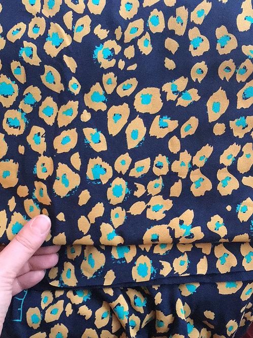 Gold Leopard/Navy print Jersey