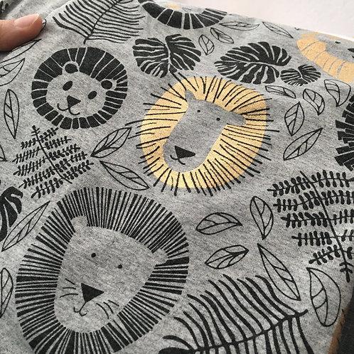 Handmade Reversible Jacket Metallic Lions -CUSTOM MADE