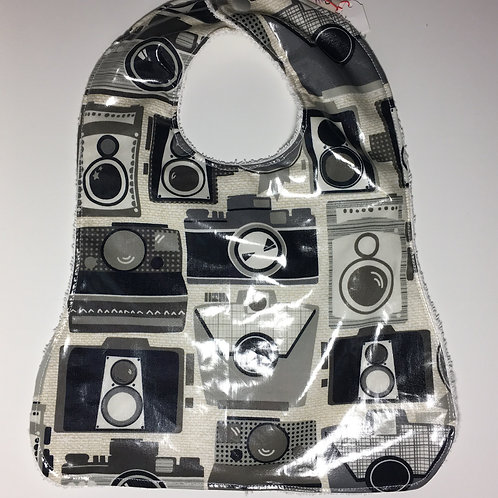 Retro Cameras Waterproof Toddler Bib