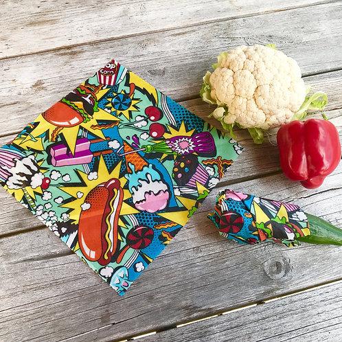 Pop Art Food - Beeswax Wrap