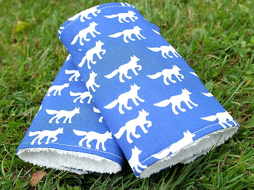 Organic Danish Foxes on Blue Strap Covers