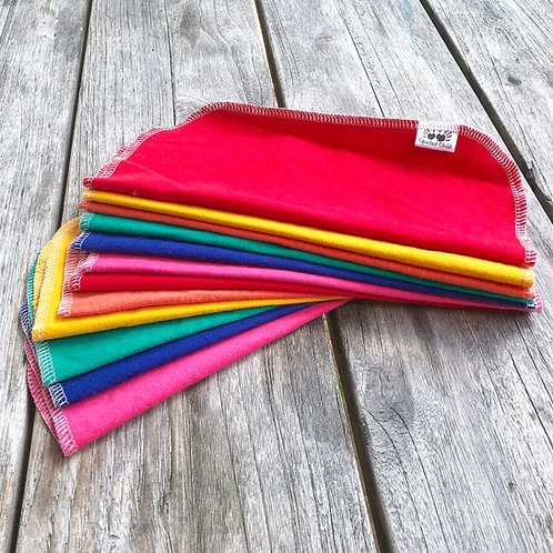 Rainbow Solids UnPaper Roll - Reusable Cotton Sheets