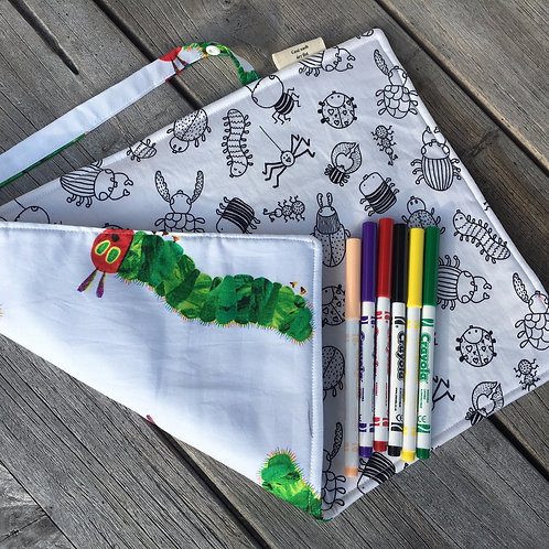 Hungry Caterpillar and Bugs Fabric Colouring Mat