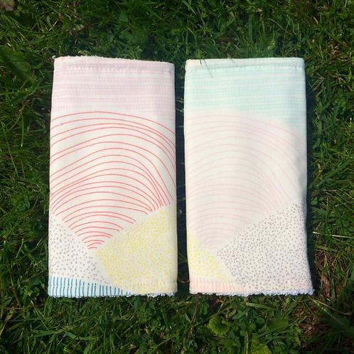 Geometric Rainbow Strap Covers