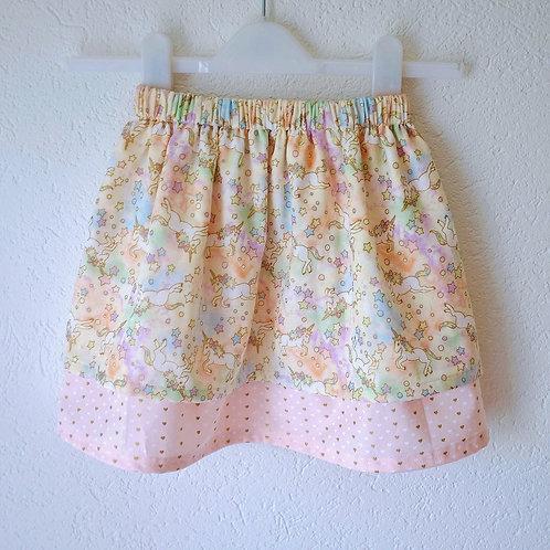 Organic Metallic Cotton Unicorn Skirt