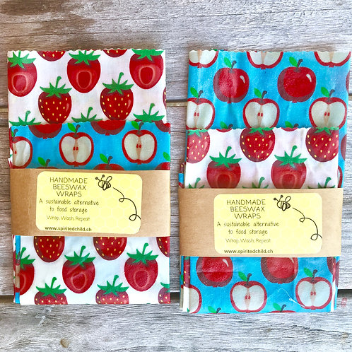 Scandi Fruit Kitchen Pack - Beeswax Wraps
