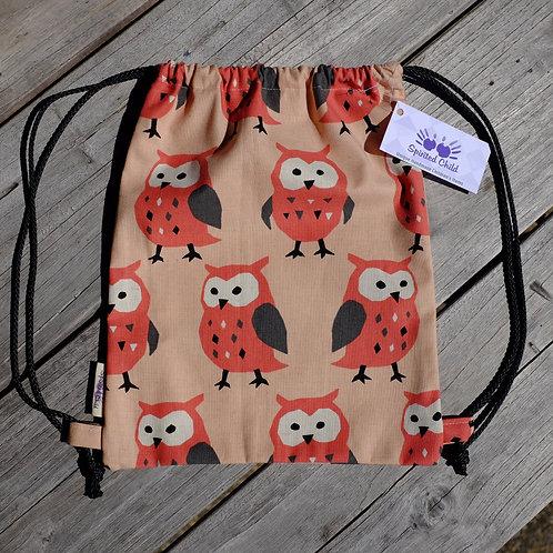 Peachy Pink Owl Gym Bag