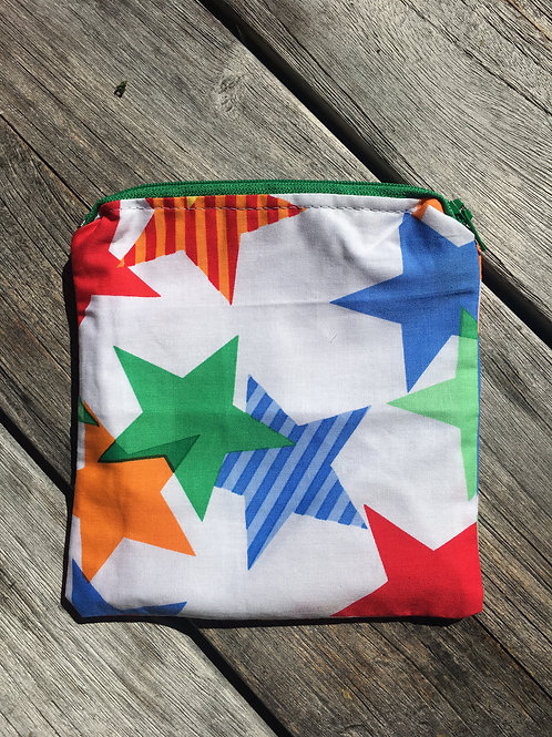 Colourful Stars Zipper Snack Pouch