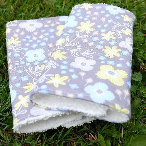 Tumbling Flowers on Light Grey Strap Covers