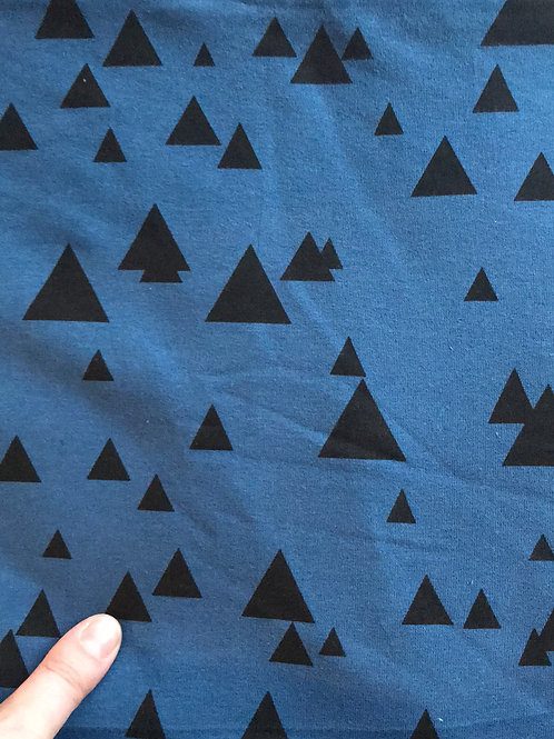 Black Triangle on Blue Sweat Jersey
