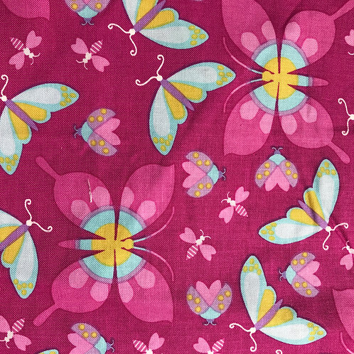 Bugs & Butterflys Pink Snack Pouch