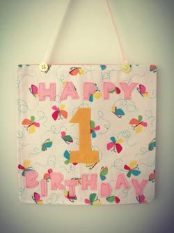 Fabric Birthday Cards..