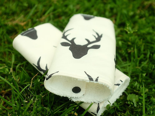 Stag Heads Black Cream Strap Covers