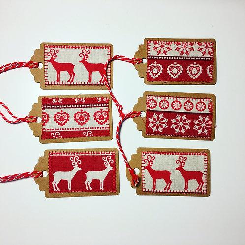 Scandi Fabric Gift Tags