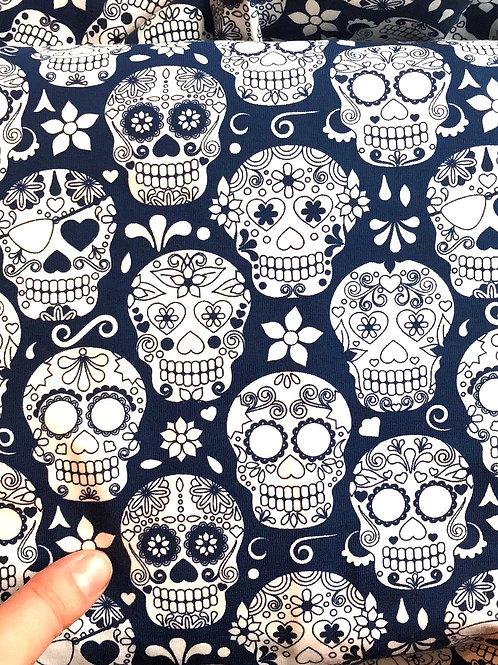 Navy Candy Skulls Jersey