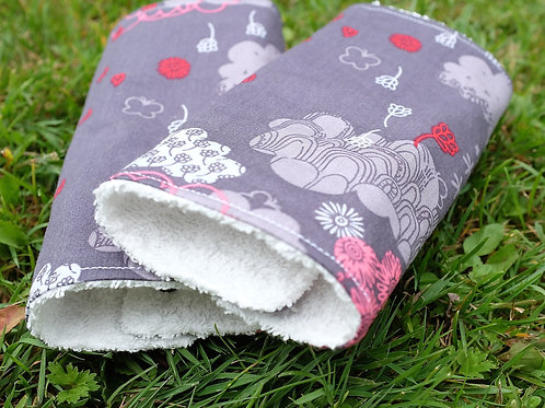 Clouds and Flowers on Grey Strap Covers
