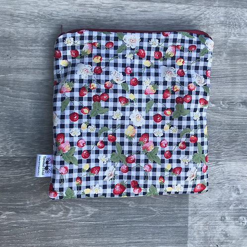 Strawberry Gingham Snack Pouch