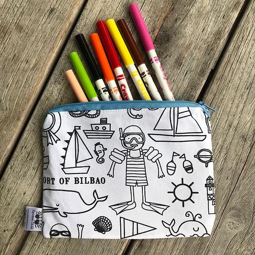 Beach Theme Colouring Pencil Case