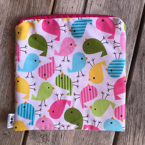 Colourful Birds Snack Pouch