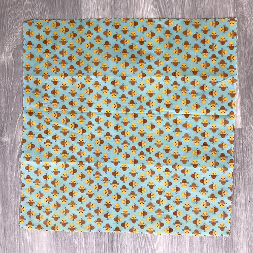 Blue Bees- Beeswax Wrap