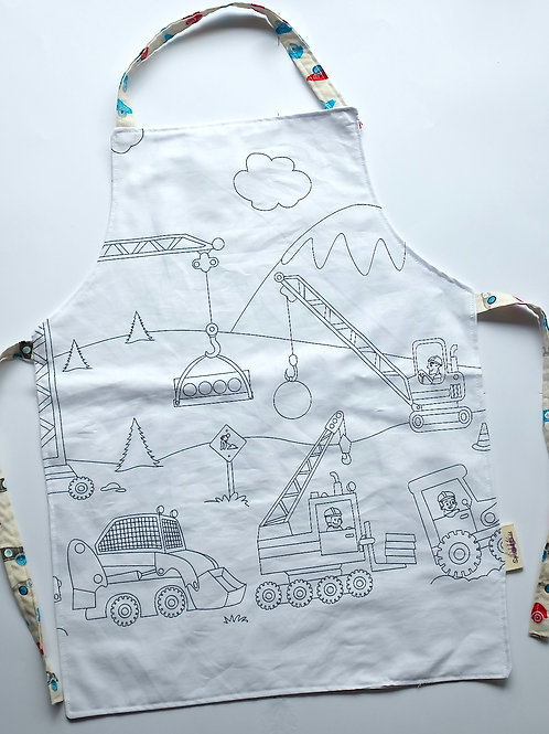 Colouring Apron -  Construction Site