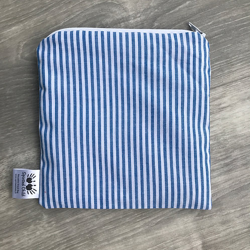 Light Blue Stripes Snack Pouch