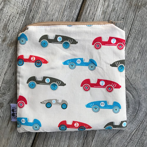 Vintage Cars Zipper Snack Pouch